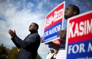 Atlanta City Mayor, Kasim Reed (D) re-elected in 2013 with renewed confidence City's management.