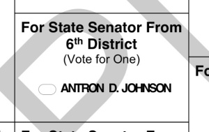Select Antron D. Johnson as your 2014 Democratic Nominee for Georgia State Senate.