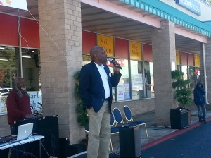 Speaking in November in South Cobb encouraging Georgians to get out and vote!